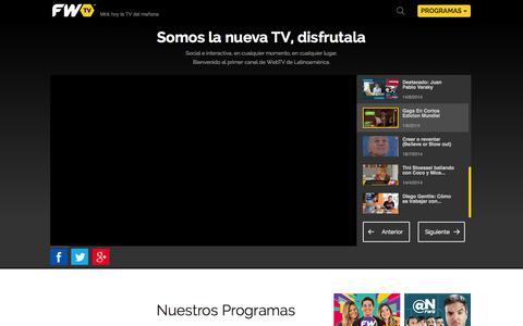 Screenshot of Home Page fwtv.tv - FWTV - captured Sept. 24, 2014