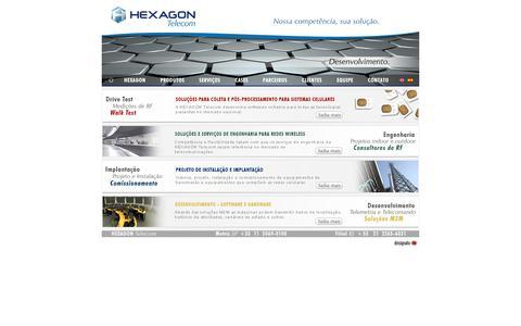 Screenshot of Home Page hexagon-telecom.com.br - Hexagon Telecom --- Nossa competência, sua solução  --- - captured Oct. 3, 2014