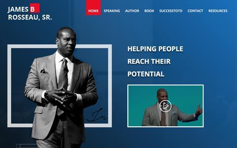 Screenshot of Home Page jamesrosseausr.com - James Rosseau - - captured July 8, 2018