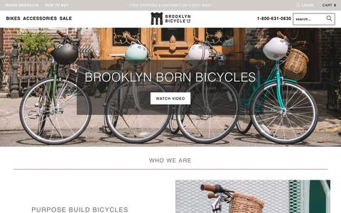 Screenshot of About Page brooklynbicycleco.com - Our Story | Brooklyn Bicycle Co. - captured Nov. 6, 2018