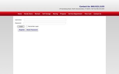 Screenshot of Login Page americanrentall.com - User Log In - captured Oct. 4, 2014