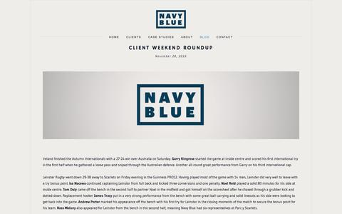 Screenshot of Blog navyblue.ie - Blog — Navy Blue Sports Management and Agents - captured Nov. 29, 2016
