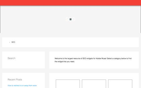 SEO Widgets | Adobe Muse Widgets