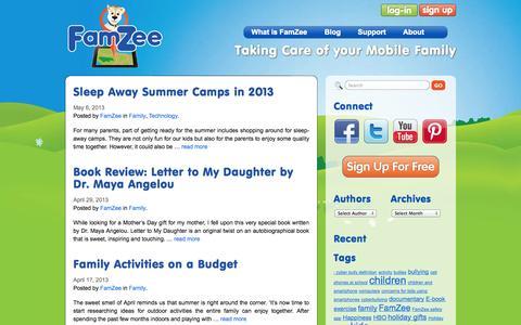 Screenshot of Blog famzee.com - Blogs | FamZeeFamZee - captured Sept. 30, 2014