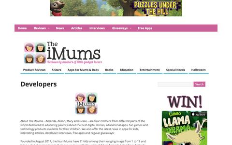 Screenshot of Developers Page theimum.com - Developers @ The iMums - captured Oct. 30, 2014