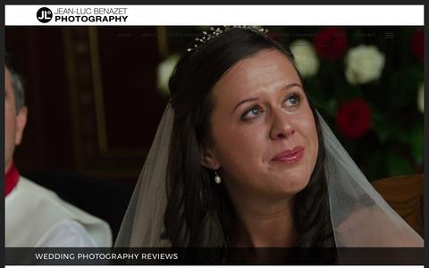 Screenshot of Testimonials Page jeanlucbenazet.com - Great Wedding Photography Reviews for Jean-Luc Benazet - captured Oct. 16, 2017