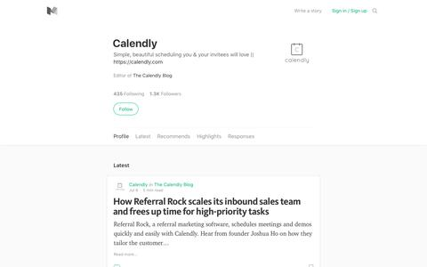 Calendly – Medium