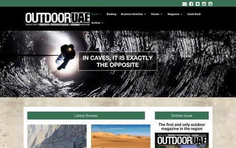 Screenshot of Home Page outdooruae.com - Outdoor activities in dubai & UAE | Adventure Travel | OutdoorUAE - captured Oct. 20, 2018
