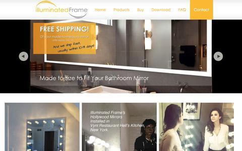 Screenshot of Testimonials Page illuminatedframe.com - illuminated Frame, lighted frames, mirror light, vanity mirror light, makeup mirror light, Hollywood mirror, bathroom mirror light - captured Oct. 6, 2014