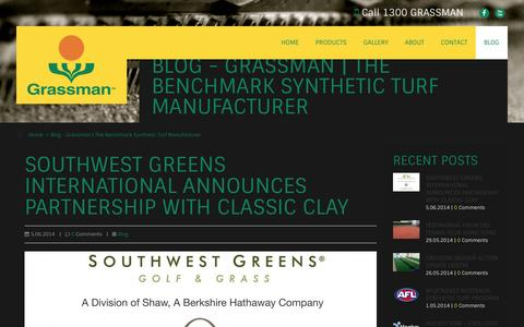 Screenshot of Blog grassman.com.au - Blog - Grassman   The Benchmark Synthetic Turf Manufacturer - captured Oct. 3, 2014