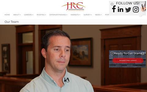 Screenshot of Team Page jrcinco.com - Our Team  - JRC - captured July 31, 2019
