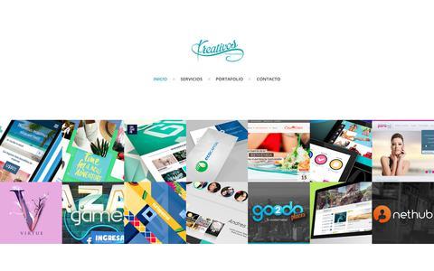 Screenshot of Home Page kreativos.net - Kreativos.net Agencia Digital - Diseño, Desarrollo y Marketing Digital - captured Oct. 9, 2018