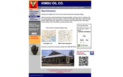 Screenshot of Maps & Directions Page kimsuoil.com - Map & Directions - captured Feb. 12, 2016
