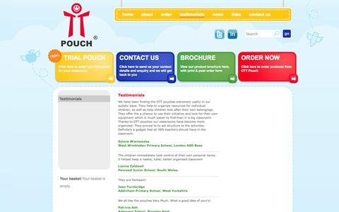 Screenshot of Testimonials Page chairbag.co.uk - Testimonials - captured Oct. 27, 2014