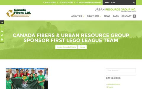 Screenshot of Team Page canadafibersltd.com - team Archives - Canada Fibers Ltd. - captured July 10, 2016