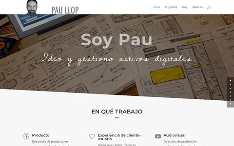 Screenshot of Home Page paullop.es - Pau Llop - captured Dec. 1, 2018