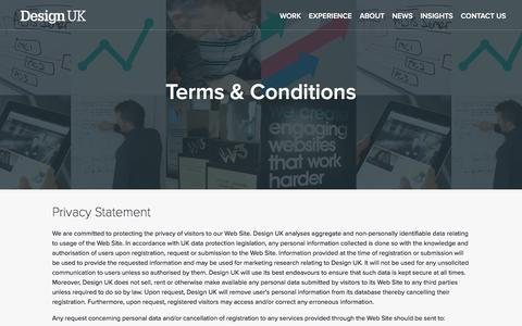 Screenshot of Terms Page designuk.com - Legal | Design UK - captured Jan. 7, 2016