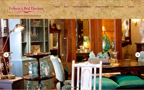 Screenshot of Home Page evilenasreddresser.com - Consignment Shop - Resale Store, Evilena's Red Dresser - captured July 24, 2015