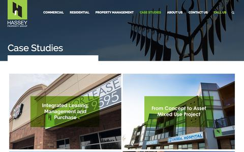 Screenshot of Case Studies Page hasseyrealty.com - Case Studies - Hassey Realty - captured July 16, 2018