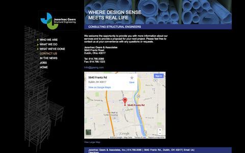 Screenshot of Contact Page Maps & Directions Page jgaeng.com - Jezerinac Geers & Associates – Contact Us - captured Oct. 25, 2014