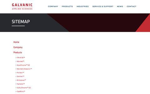 Screenshot of Site Map Page galvanic.com - Sitemap | Galvanic Applied Sciences - captured Jan. 26, 2016