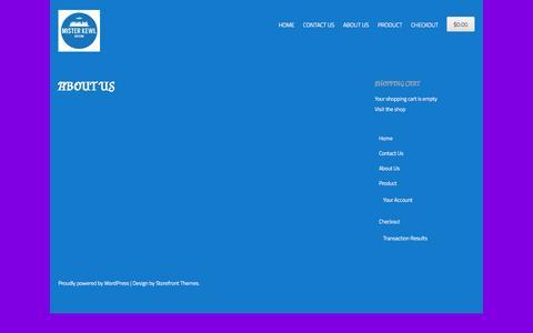 Screenshot of About Page misterkewl.com - About Us | Mister Kewl - captured Sept. 30, 2014
