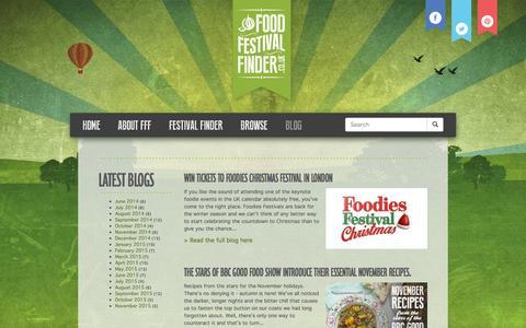 Screenshot of Blog foodfestivalfinder.co.uk - Blog   Food Festival Finder - captured Nov. 11, 2015