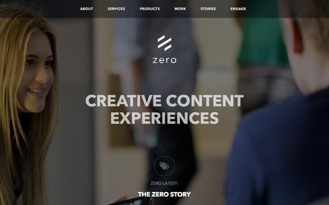 Screenshot of Home Page zeroagency.com - Digital Agency Web App Social Melbourne Sydney Brisbane Perth Adelaide - captured Oct. 9, 2014