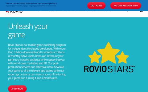 Screenshot of Developers Page rovio.com - Developers | Rovio.com - captured Dec. 18, 2015