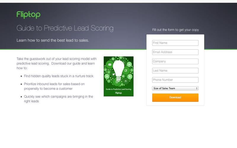 Guide Predictive Lead Scoring