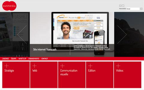 Screenshot of Home Page sunmed.fr - Sunmedia, agence de communication 360 Marseille - Agence web Marseille / PACA - captured Sept. 7, 2015