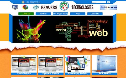 Screenshot of About Page beaverstechnologies.in - Beavers Technologies - About Us - captured Dec. 31, 2015