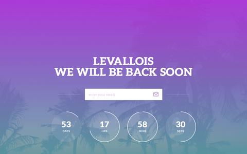 Screenshot of Home Page levalloisbeauty.com - Levallois - captured July 21, 2015