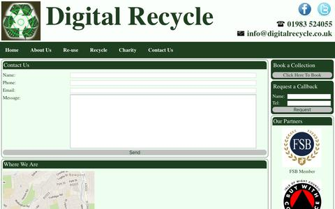 Screenshot of Contact Page digitalrecycle.co.uk - Contact Us - Digital Recycle - captured Jan. 10, 2017