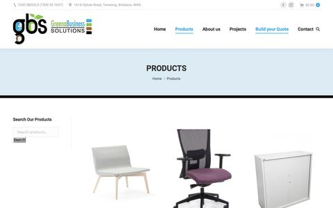 Screenshot of Products Page gbsols.com.au - Products Archive - GB Sols - captured Sept. 24, 2018