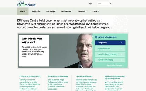 Screenshot of Home Page dpivaluecentre.nl - Home - DPI Value Centre - captured Sept. 30, 2014