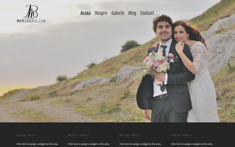 Screenshot of Home Page mariusbulzan.com - Marius Bulzan Event Photographer - captured April 15, 2016