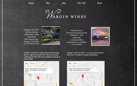 Screenshot of Maps & Directions Page warginwines.com - Wargin Wines Locations - captured Dec. 17, 2016