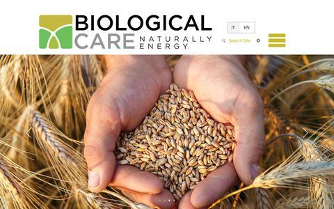 Screenshot of Home Page biologicalcare.it - Biological Care - captured Nov. 13, 2018