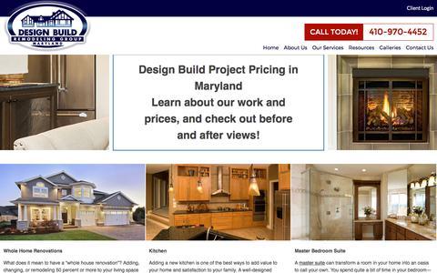 Screenshot of Pricing Page designbuildremodelinggroup.com - Renovation Pricing Maryland | Home Additions MD - captured Oct. 12, 2017