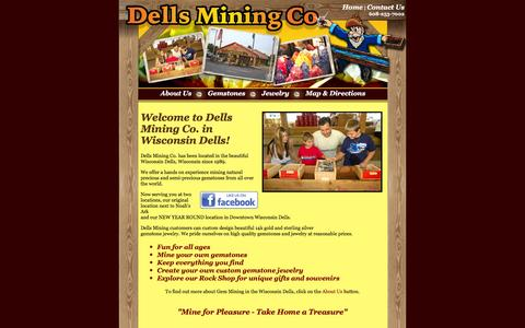 Screenshot of Home Page dellsminingco.com - Wisconsin Dells Mining Company - Wisconsin Dells, Wisconsin Attractions - captured June 16, 2016