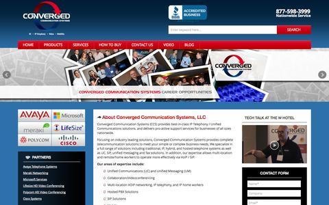 Screenshot of Home Page convergedsystems.com - Avaya Business Telephone Systems - Avaya Phones - Avaya Partner - captured Oct. 3, 2014