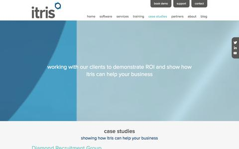 Screenshot of Case Studies Page itris.co.uk - case studies | Itris | Itec Systems | Recruitment Software - captured Oct. 6, 2014
