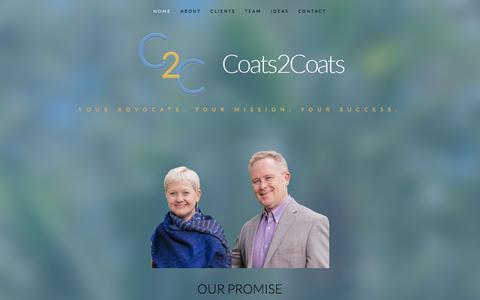 Screenshot of Home Page coats2coats.com - Coats2Coats - captured July 19, 2018