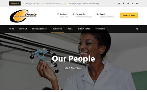 Screenshot of Team Page chemin.co.za - Our People – Chemin - captured May 16, 2017