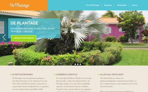 Screenshot of Home Page de-plantage.com - De Plantage - captured Aug. 6, 2015