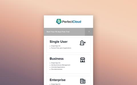 Screenshot of Signup Page perfectcloud.io - Register|PerfectCloud - captured Oct. 2, 2014
