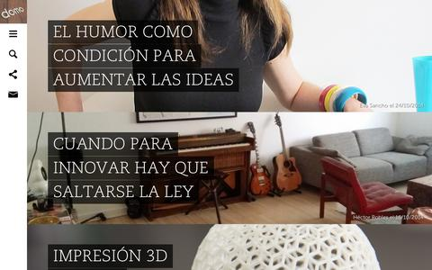 Screenshot of Blog domo.es - Todas las novedades en el blog de Domo - captured Oct. 27, 2014
