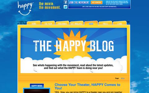 Screenshot of Blog thehappymovie.com - Blog - The Happy Movie The Happy Movie - captured May 10, 2018