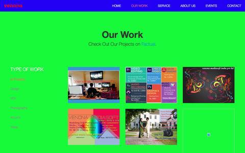 Screenshot of Home Page venona.in - Venona Mediasoft | Media Company - captured Dec. 2, 2016